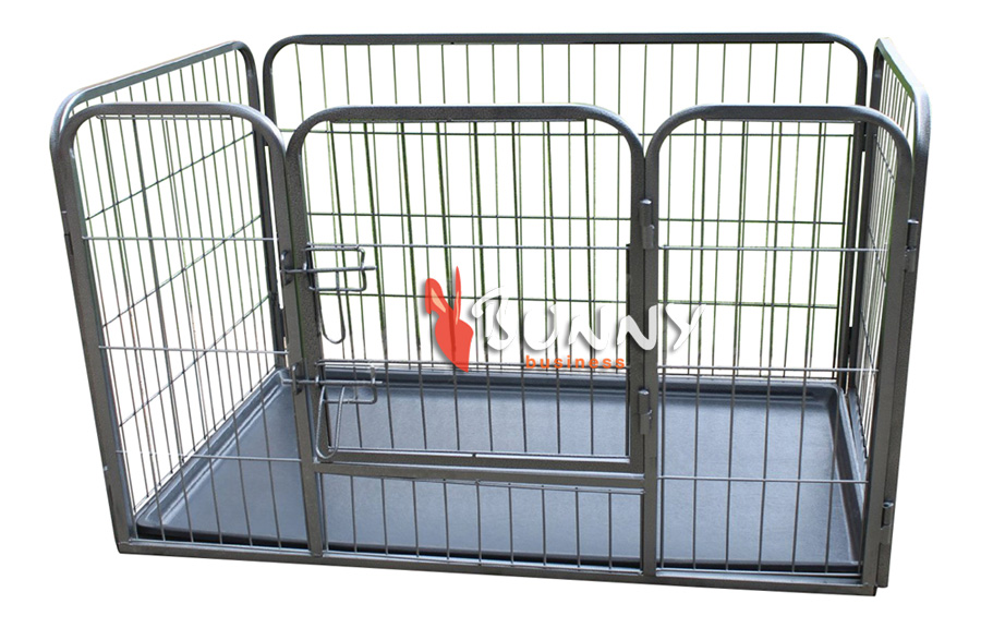 heavy duty 4 piece puppy dog play pen run enclosure welping playpen with floor 4